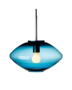 Taklampe 4280 Stålblå m. stål oppheng
