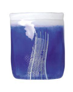bl glass 175 mm blå
