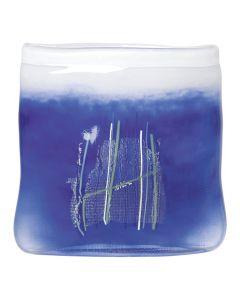 bl glass 215 mm blå