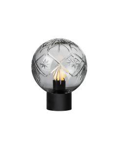 Bordlampe finn røkgrå m. sort sokkel