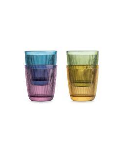 GLASS 20CL 4PK FLERFARGE